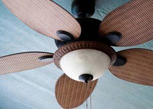 blades of ceiling fan