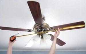 measure ceiling fans