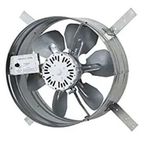 small attic gable fan