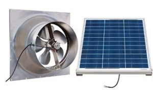 solar powered attic fan with thermostat