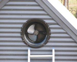 gable attic fan