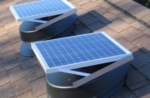 solar powered attic exhaust fan