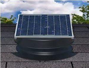 solar attic fan side mount
