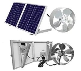gable mount solar powered attic fan