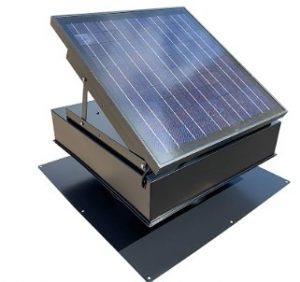 solar gable attic fan