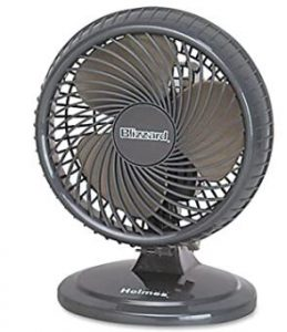 oscillating quiet cooling fan