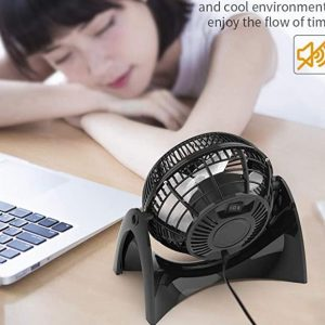 quiet cooling fan balck small office