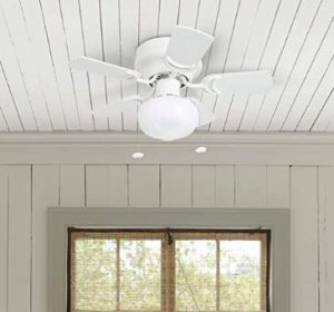 what size ceiling fan for small bedroom