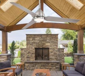 small outdoor patio ceiling fans
