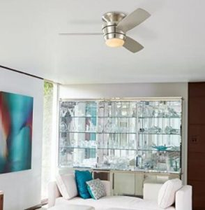 small white ceiling fan
