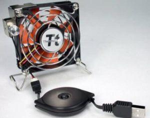 thermaltake mobile fan ii external usb cooling fan