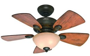 brown ceiling fan for small rooms